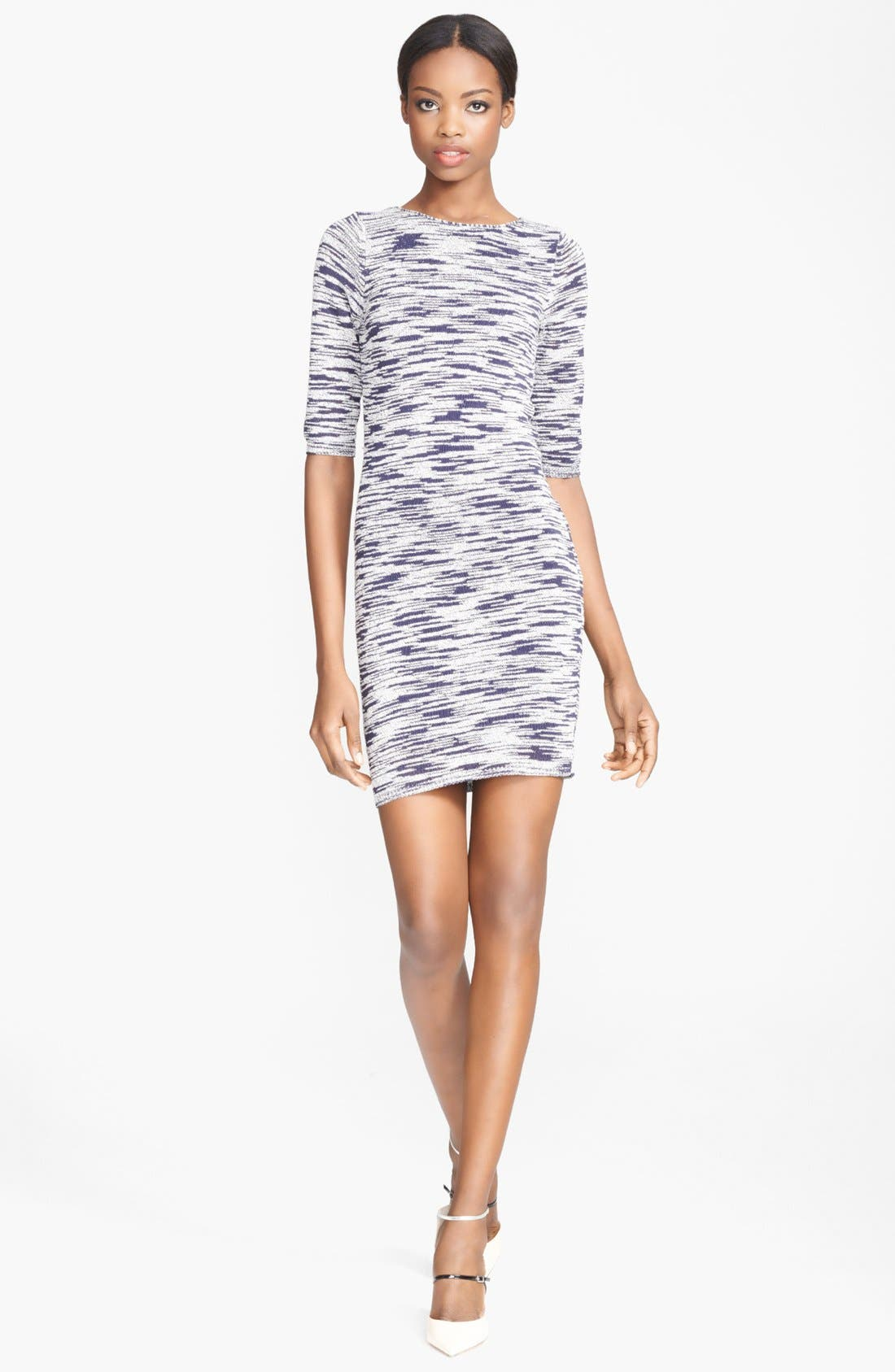 Main Image - Alice + Olivia Textured Sweater Dress