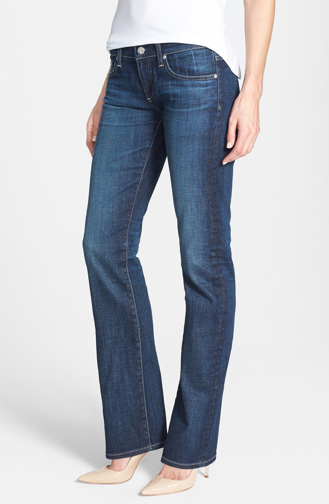 Main Image - AG 'The Tomboy' Relaxed Straight Leg Jeans (Six Year Compass)