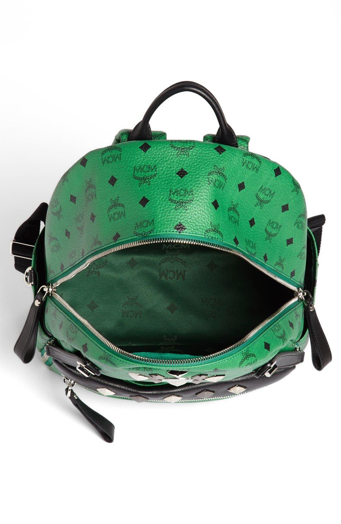 Alternate Image 3  - MCM 'Studded - Medium' Coated Canvas Backpack