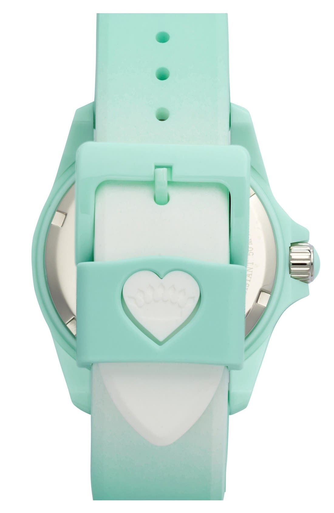Alternate Image 2  - Juicy Couture 'Sport' Crystal Bezel Silicone Strap Watch, 40mm