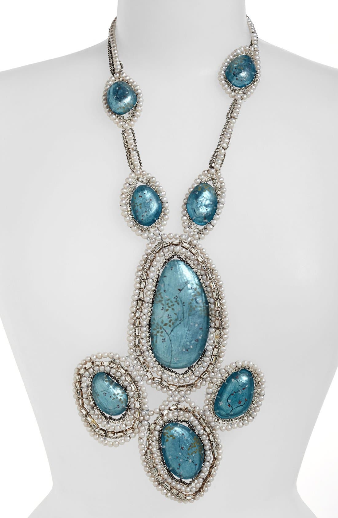 Alternate Image 1 Selected - Alexis Bittar 'Lucite®' Pearl Statement Bib Necklace (Online Only)