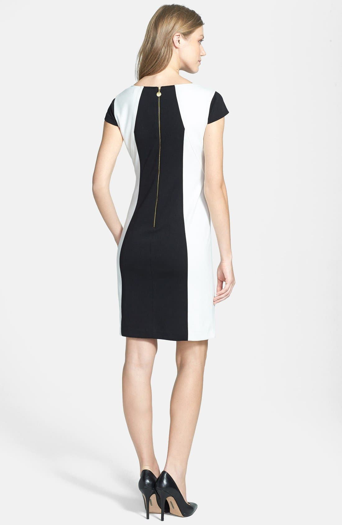 Alternate Image 3  - Ellen Tracy Colorblock Ponte Sheath Dress