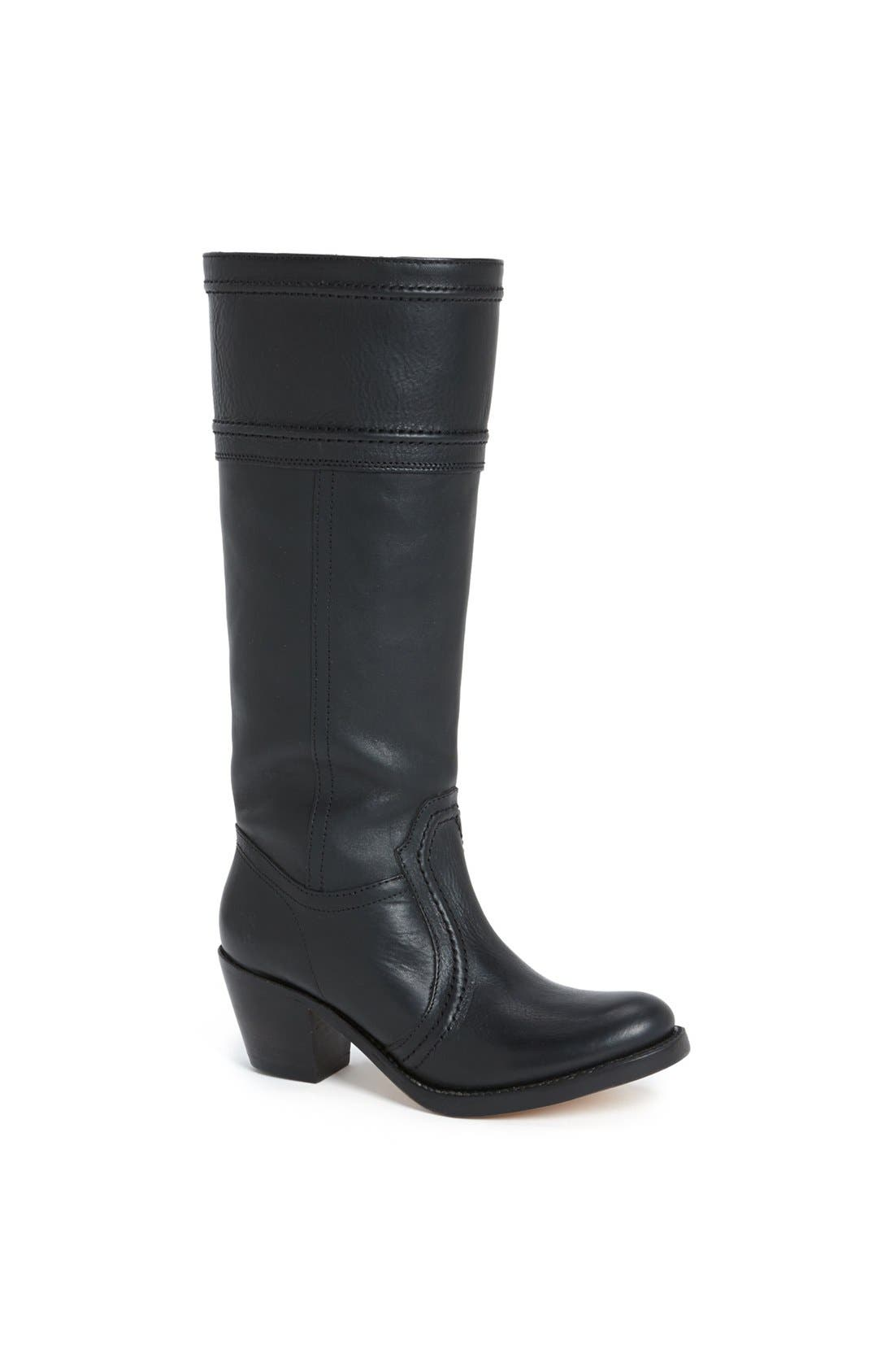 'Jane 14' Tall Pull-On Boot,                             Main thumbnail 1, color,                             Black