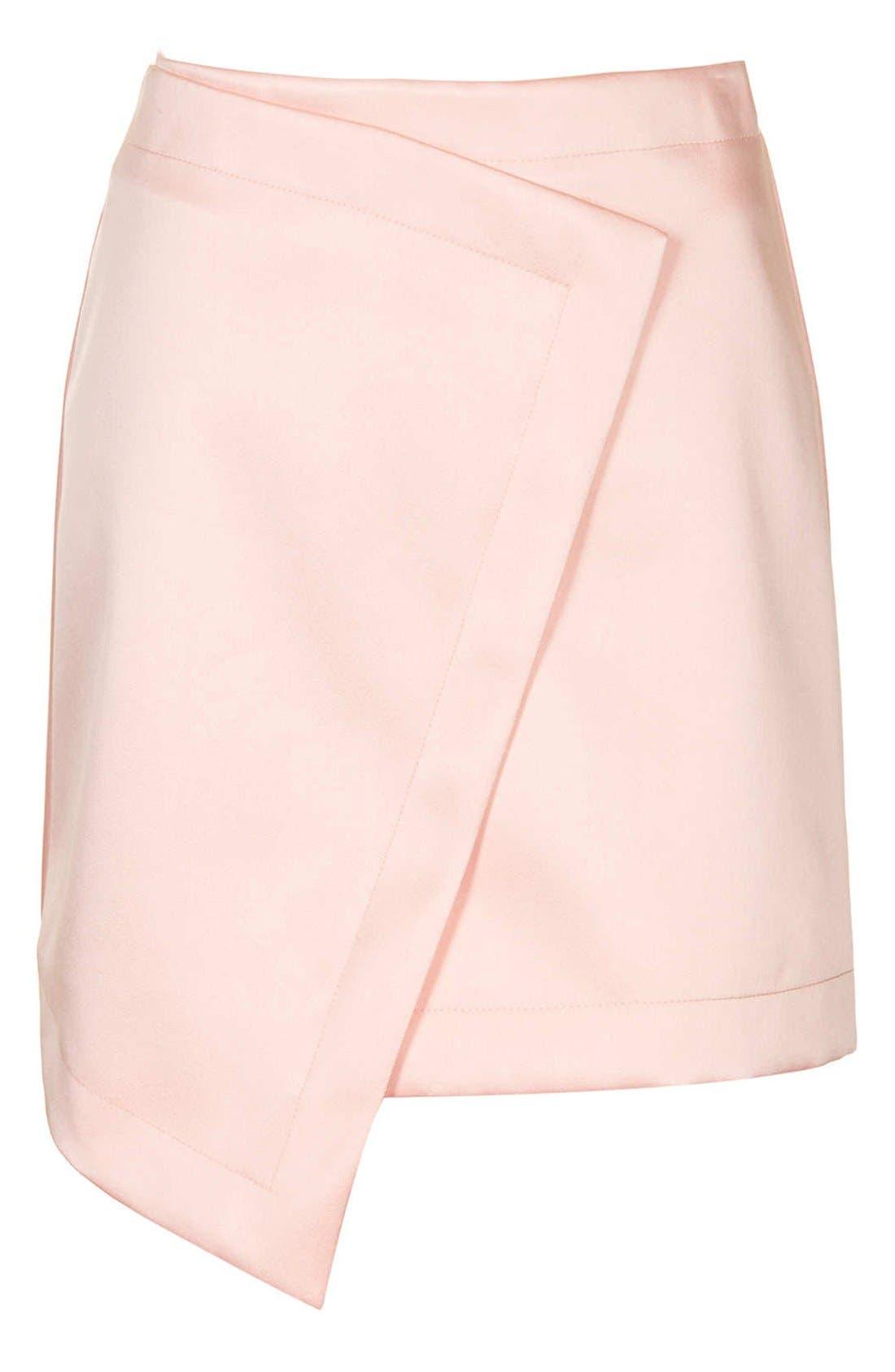 Alternate Image 3  - Topshop Faux Wrap Satin Skirt