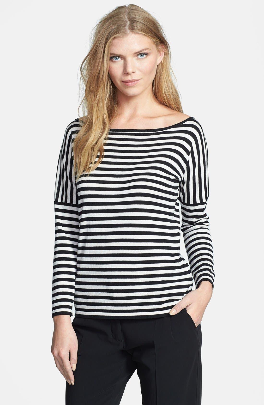 Alternate Image 1 Selected - Weekend Max Mara 'Bambo' Stripe Silk & Cotton Sweater