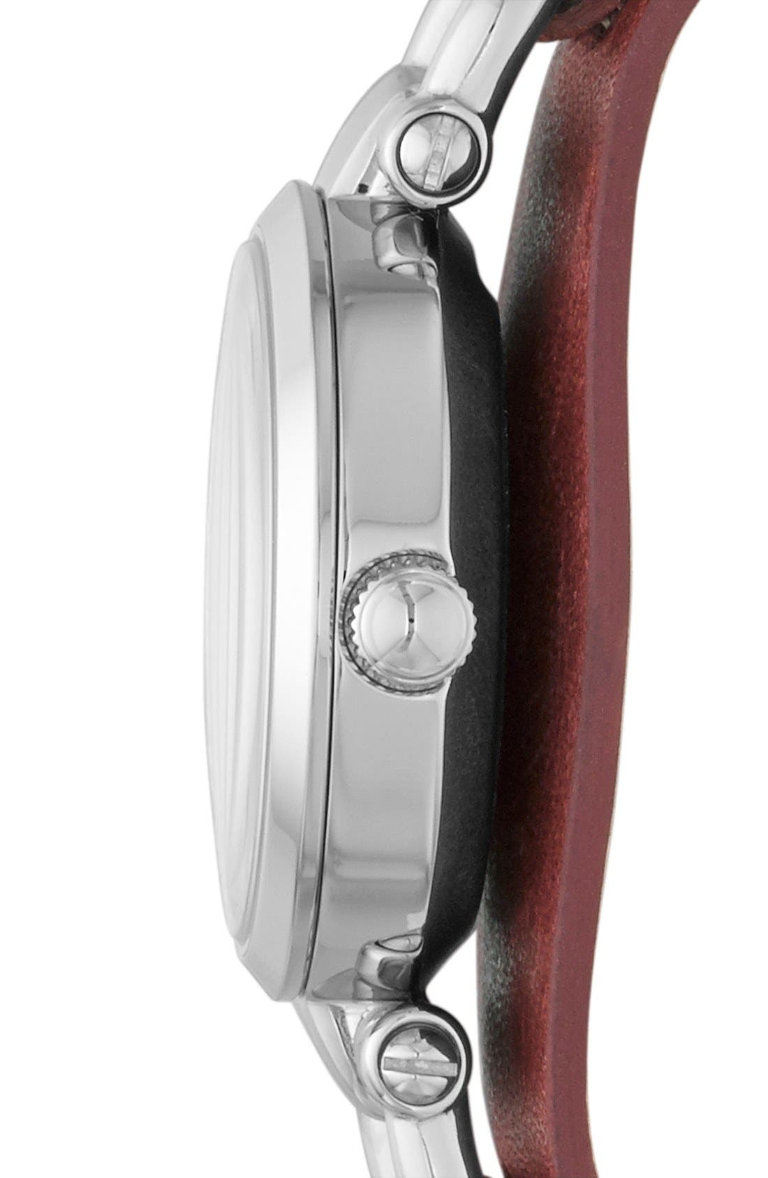 Alternate Image 3  - Fossil 'Small Georgia' Leather Strap Watch, 26mm