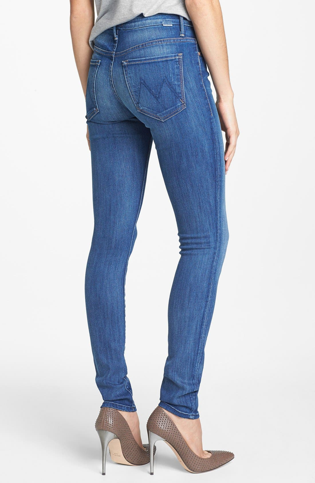 Alternate Image 2  - MOTHER 'The Looker' High Rise Skinny Jeans (Devil in a Blue Suit)