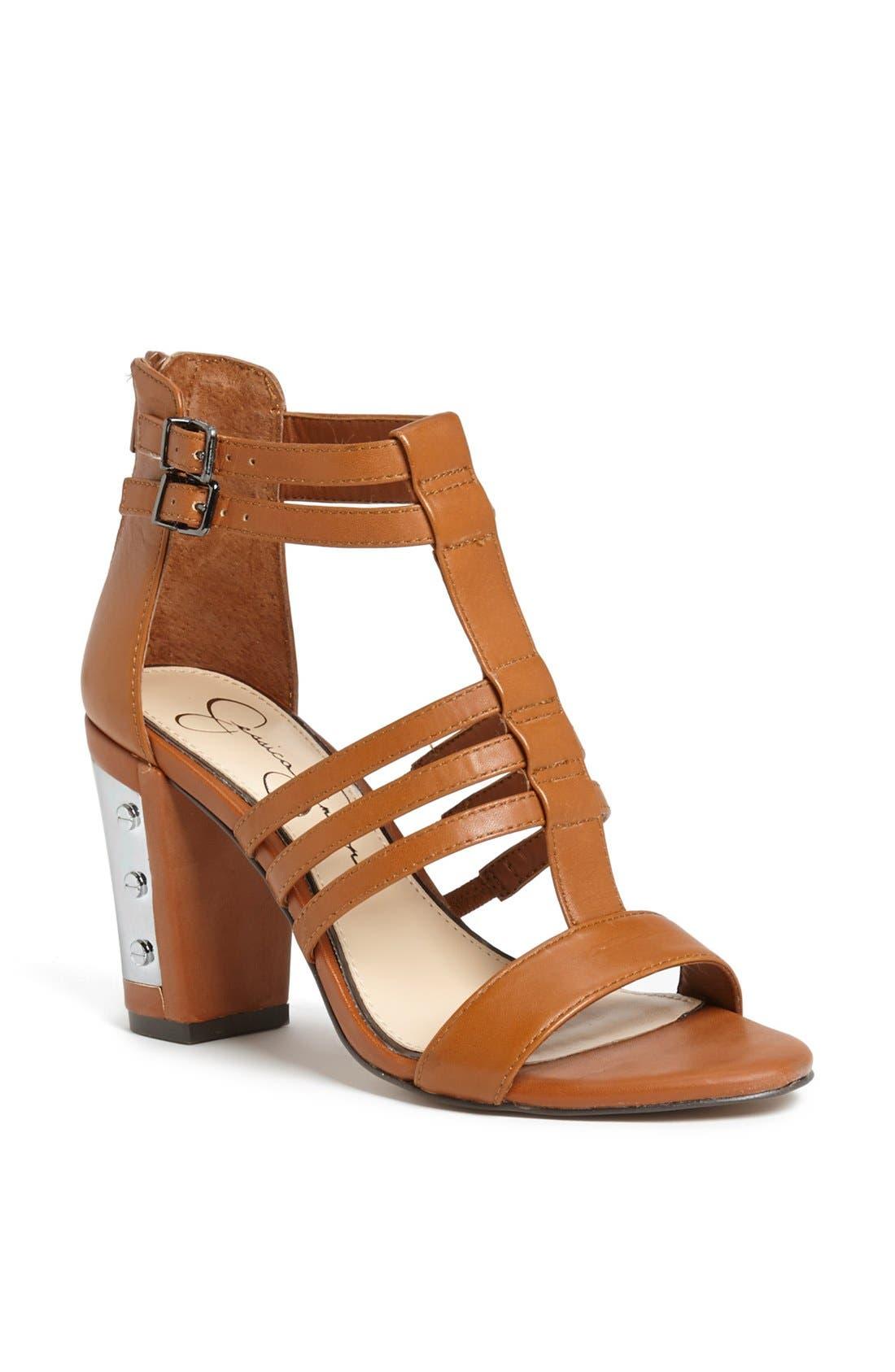 Alternate Image 1 Selected - Jessica Simpson 'Jennisin' Leather Sandal