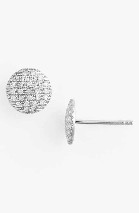 Dana Rebecca Designs Lauren Joy Diamond Disc Stud Earrings