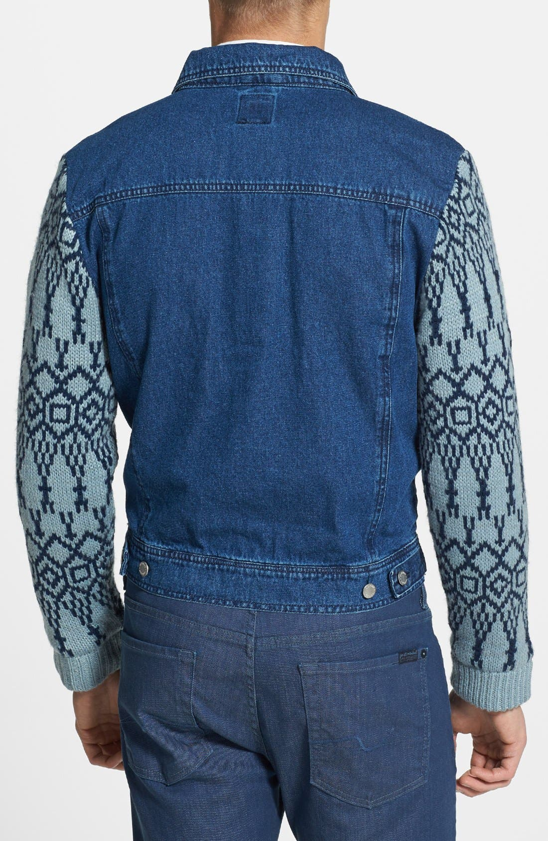 Alternate Image 2  - Insight 'Revival' Denim Jacket with Knit Sleeves