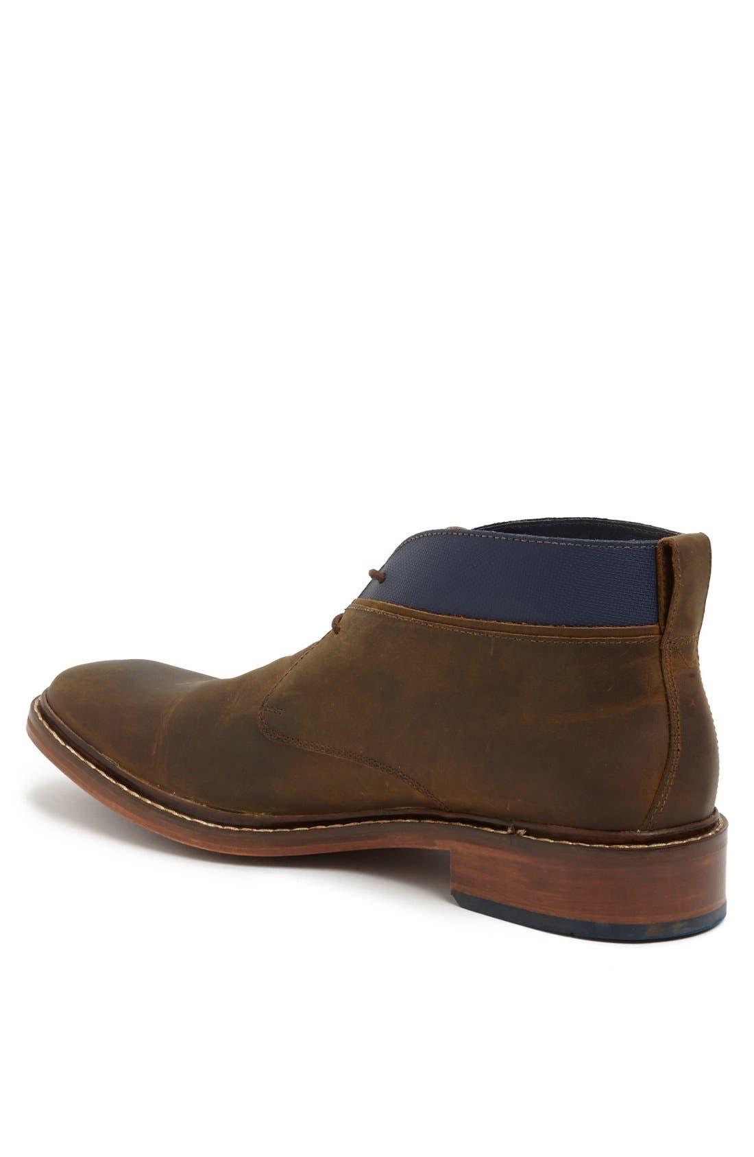 'Colton' Chukka Boot,                             Alternate thumbnail 3, color,                             Copper/ Peacoat Leather