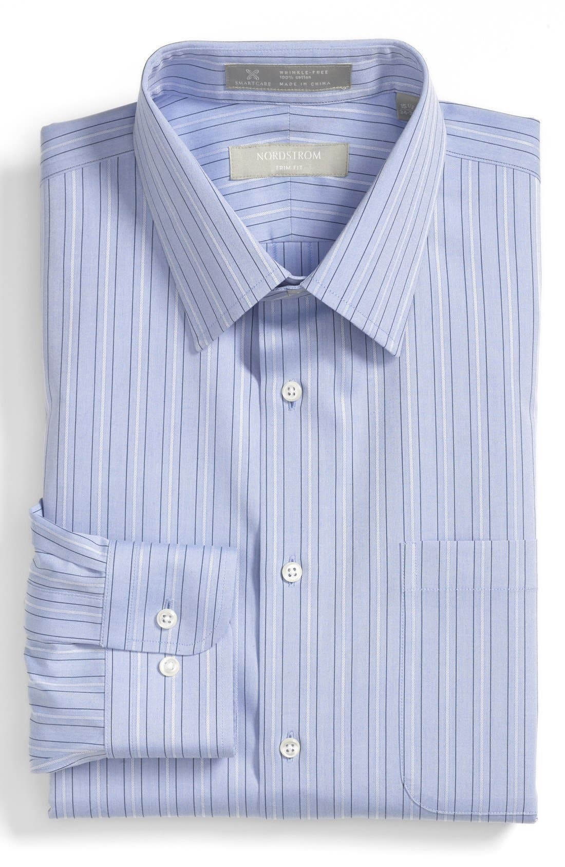 Alternate Image 1 Selected - Nordstrom Smartcare™ Trim Fit Stripe Non-Iron Dress Shirt