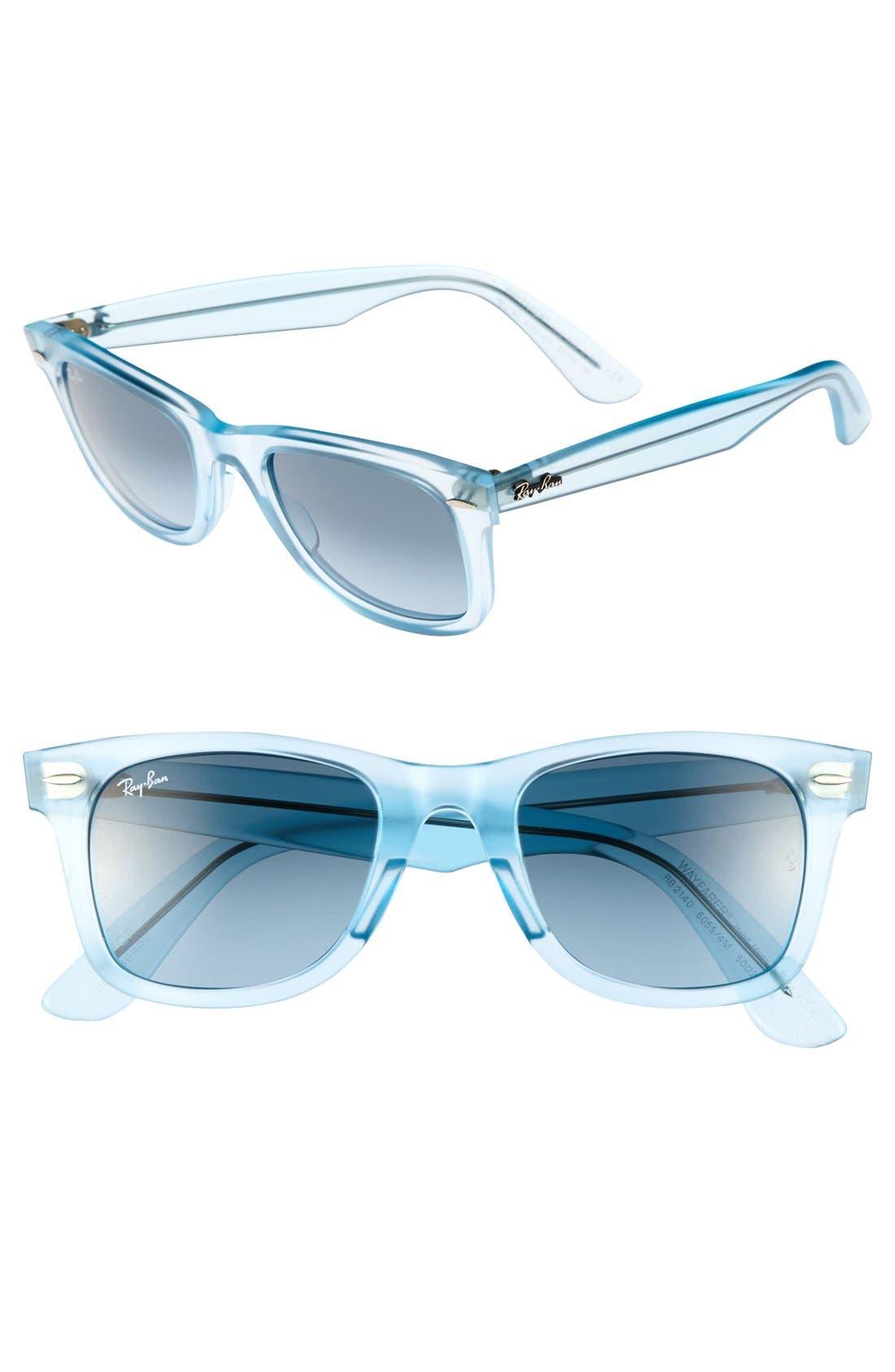 Main Image - Ray-Ban 'Ice Pop Icon - Wayfarer' 50mm Sunglasses
