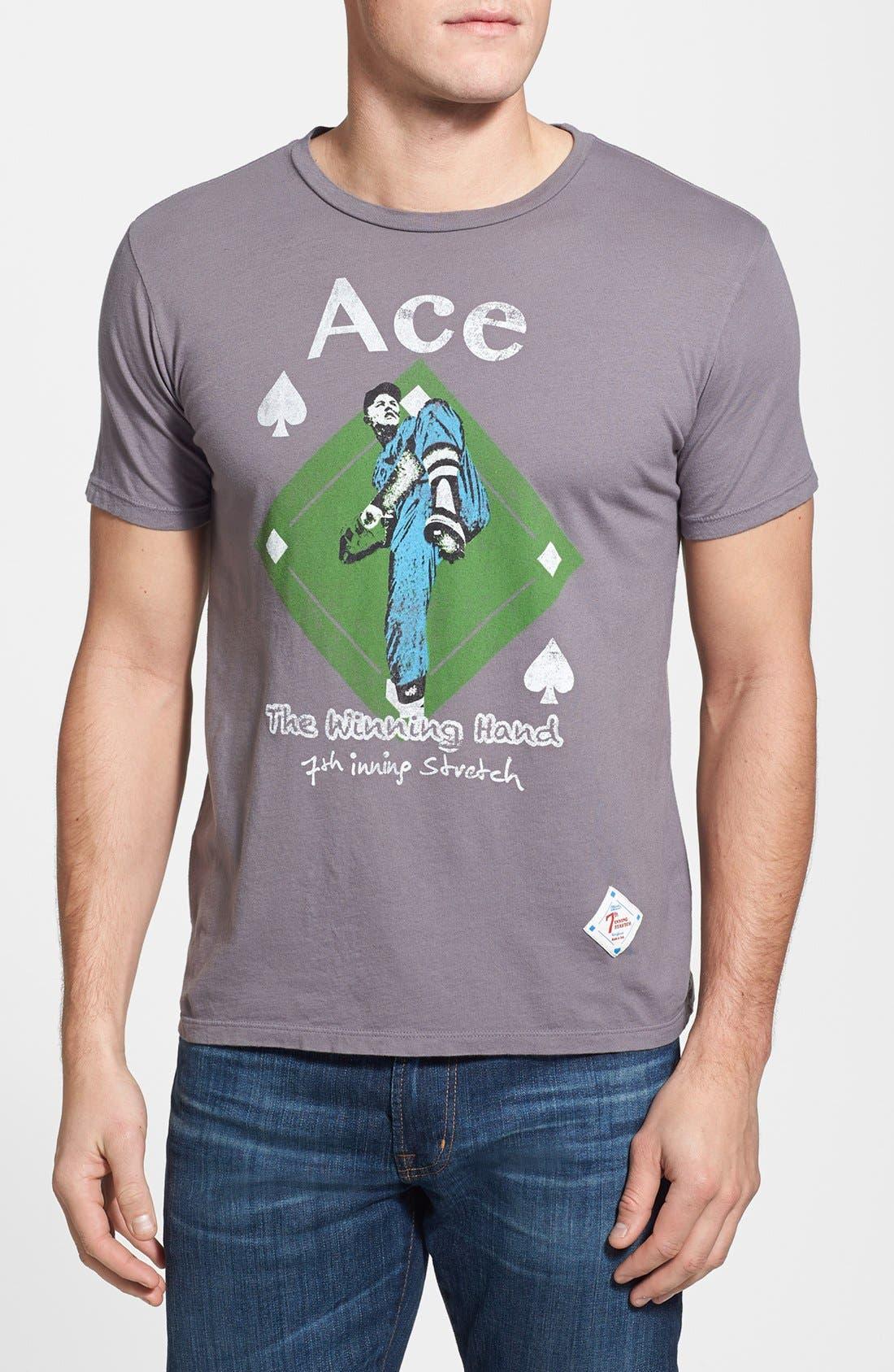 'Ace' Slim Fit T-Shirt,                             Main thumbnail 1, color,                             Grey