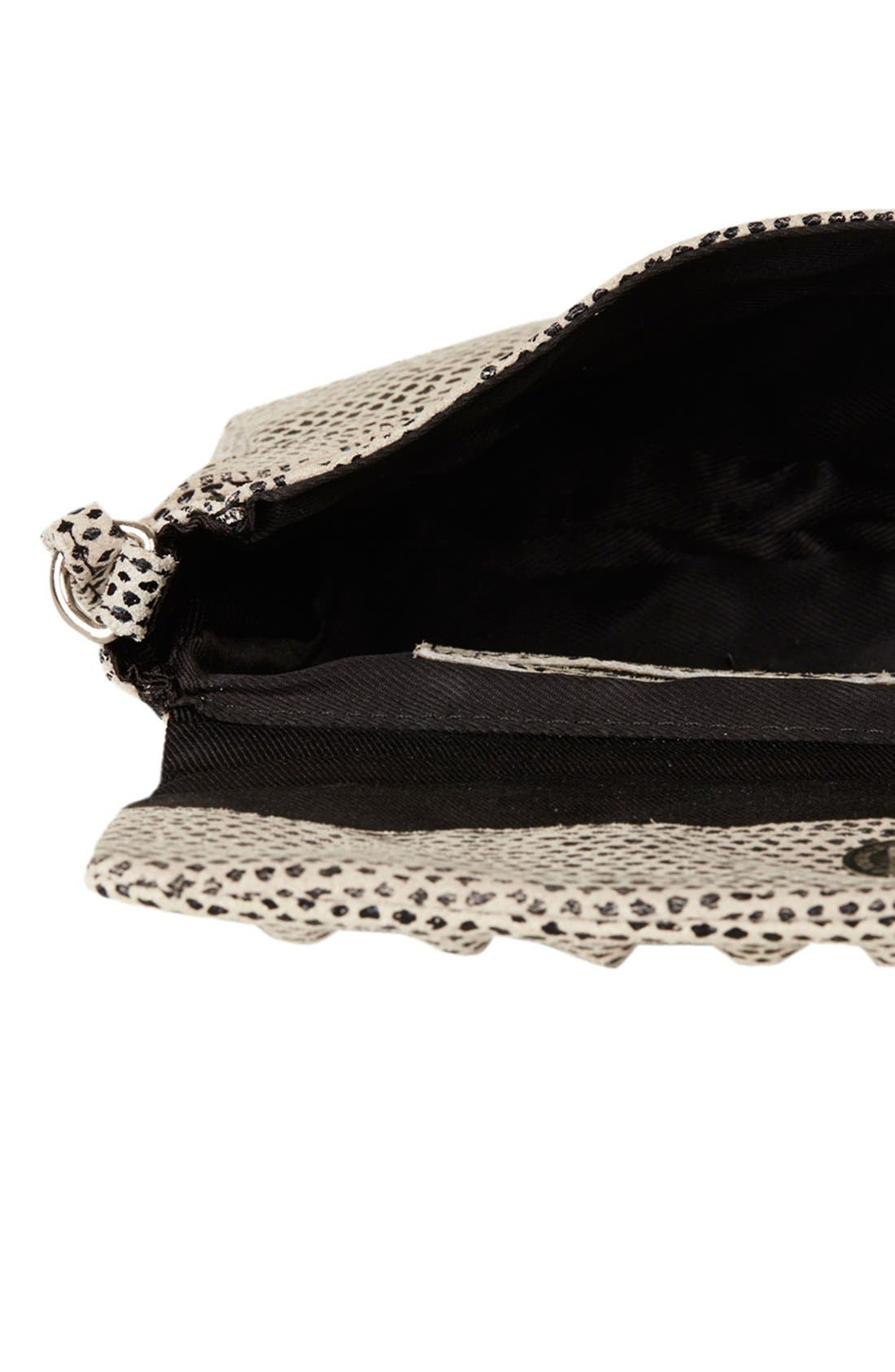 Alternate Image 3  - Topshop Snake Embossed Crossbody Bag