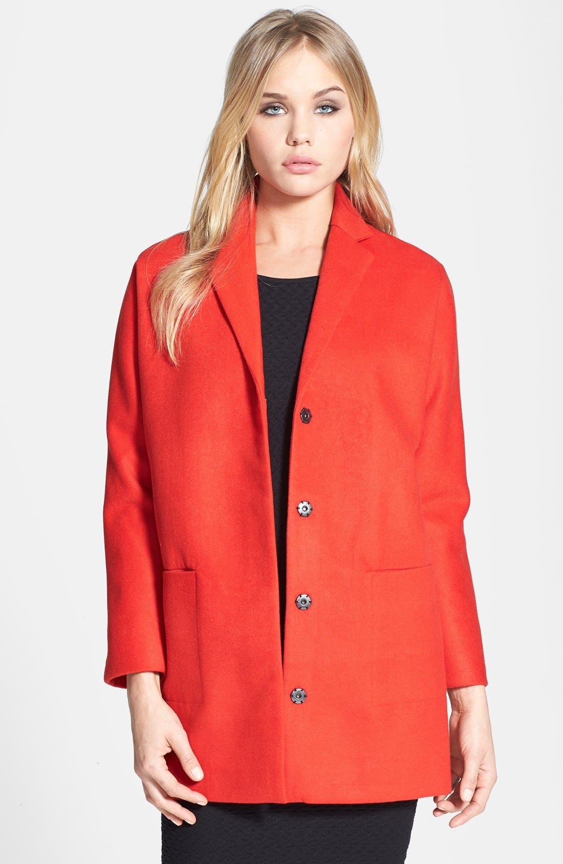 Main Image - Topshop Oversized Snap Button Coat