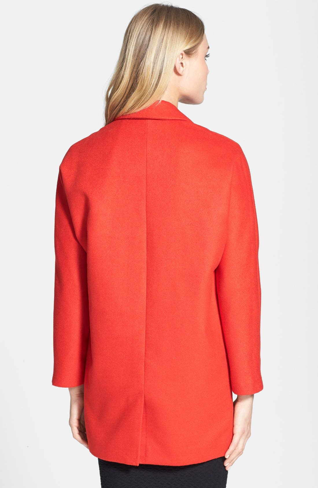 Alternate Image 2  - Topshop Oversized Snap Button Coat
