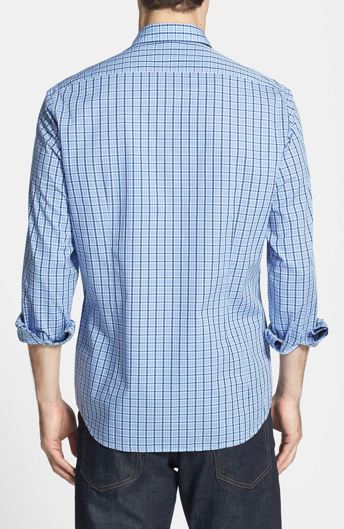 Alternate Image 2  - BOSS HUGO BOSS 'Obert' Plaid Sport Shirt