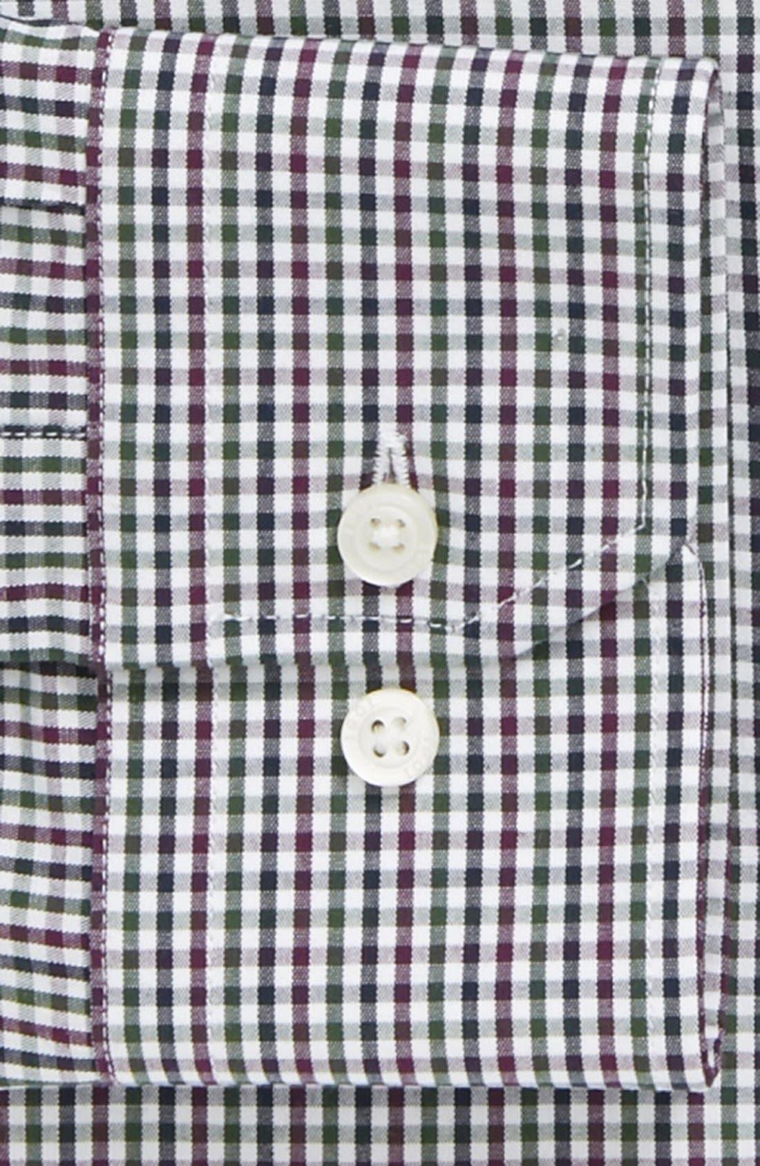 Alternate Image 2  - 1901 Trim Fit Gingham Dress Shirt