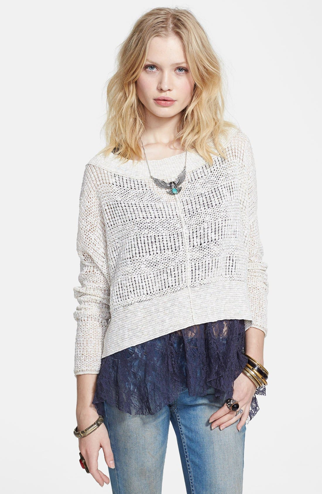 Alternate Image 1 Selected - Free People 'These Days' Open Knit Pullover