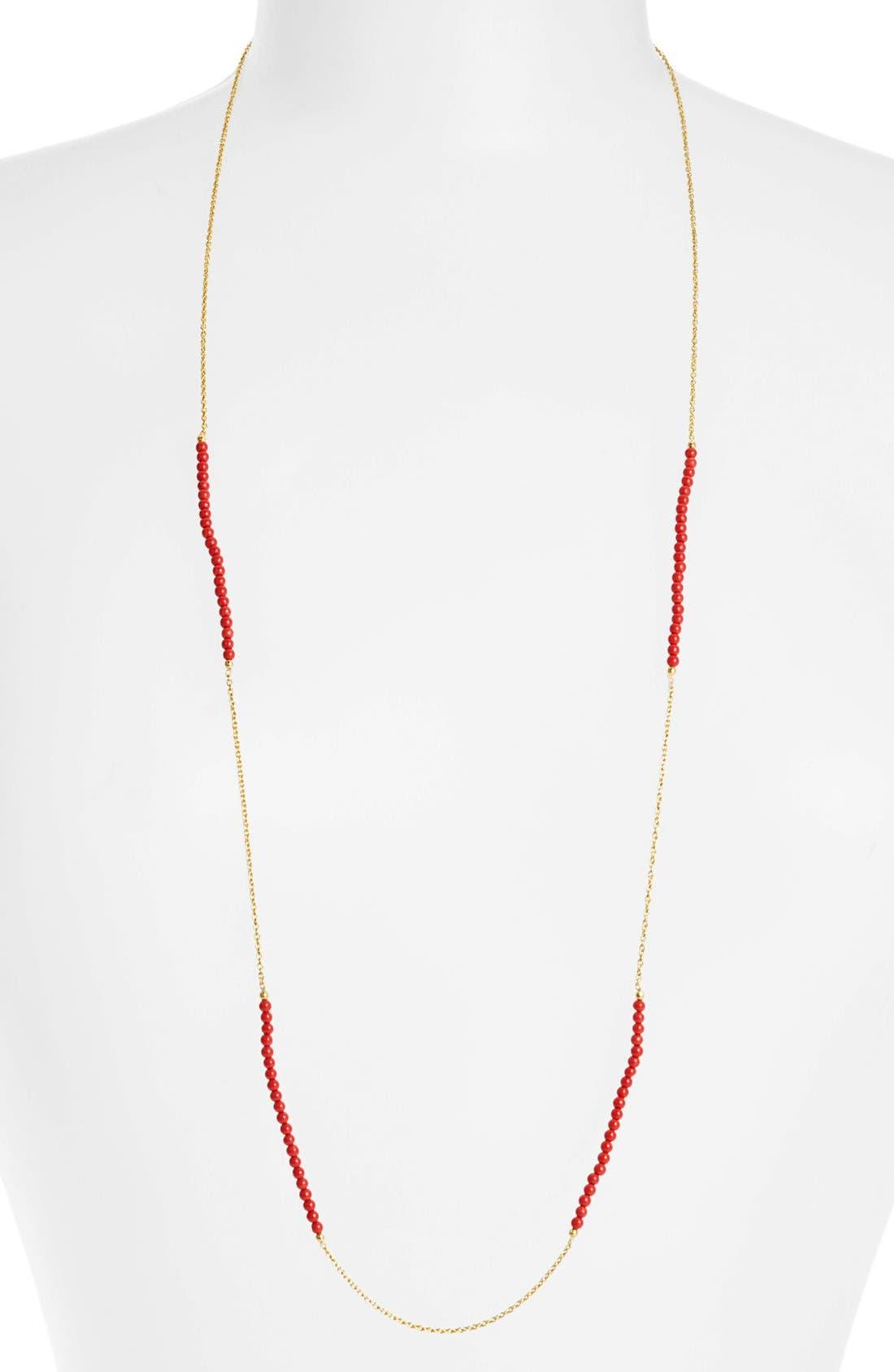 Main Image - Argento Vivo Long Bead & Link Necklace