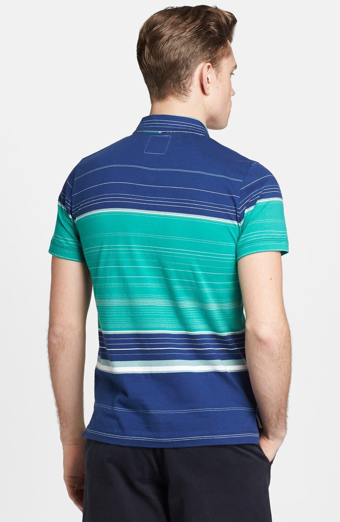 Alternate Image 2  - Billy Reid 'Pensacola' Block Stripe Jersey Polo