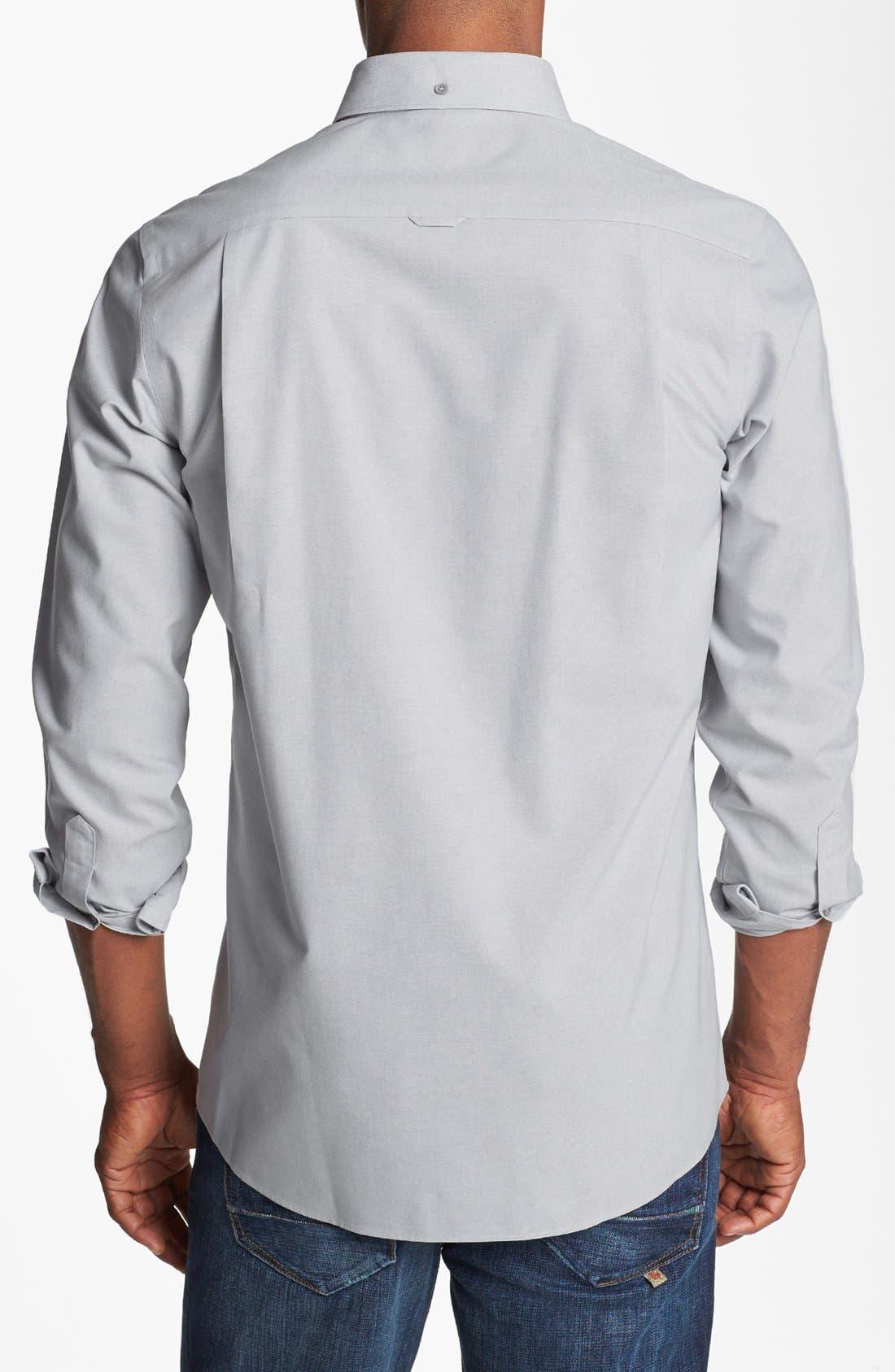Alternate Image 2  - Nordstrom Men's Shop Smartcare™ Regular Fit Oxford Sport Shirt (Tall)