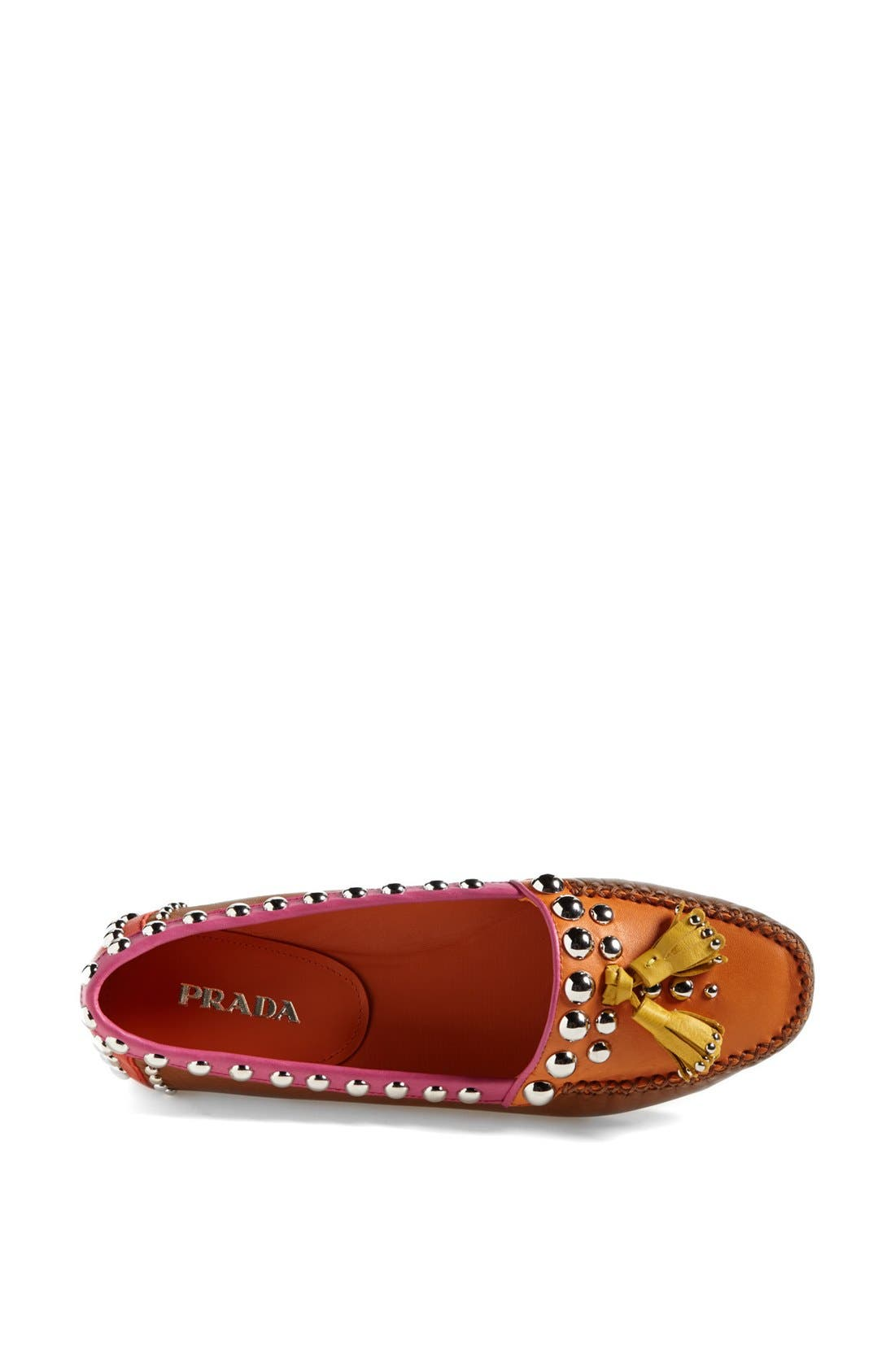 Alternate Image 4  - Prada Studded Tassel Moccasin