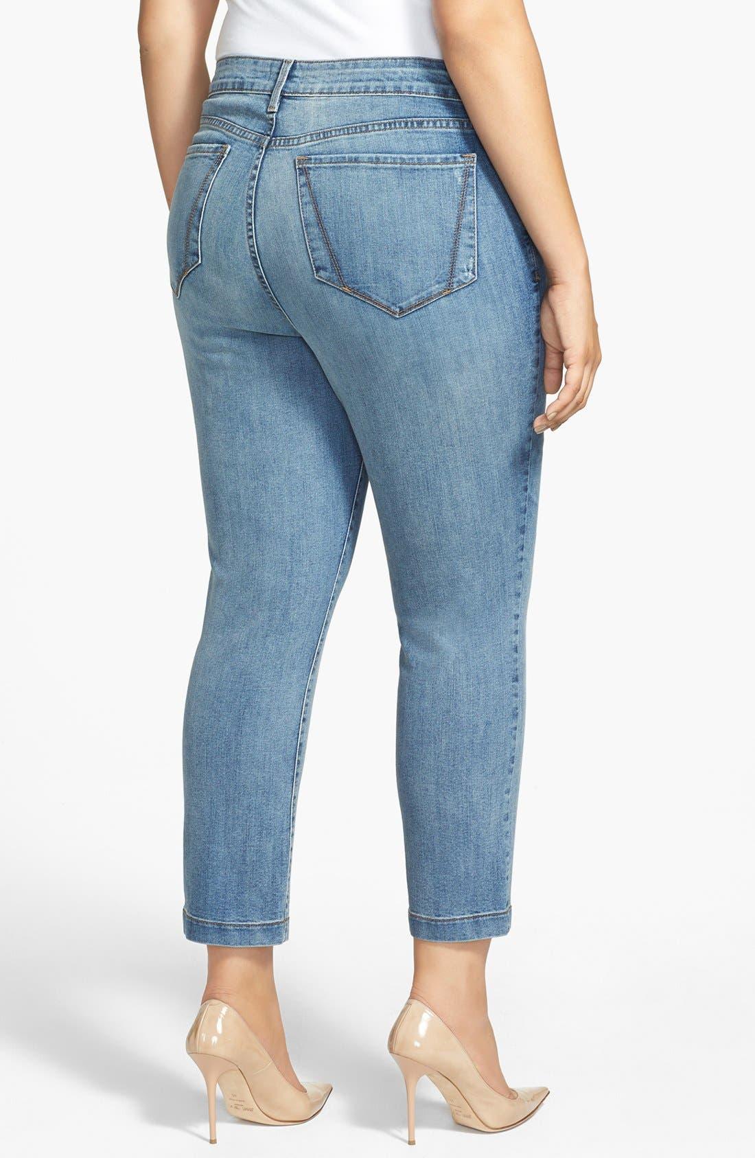 Alternate Image 2  - NYDJ 'Audrey' Stretch Skinny Ankle Jeans (Plus Size)