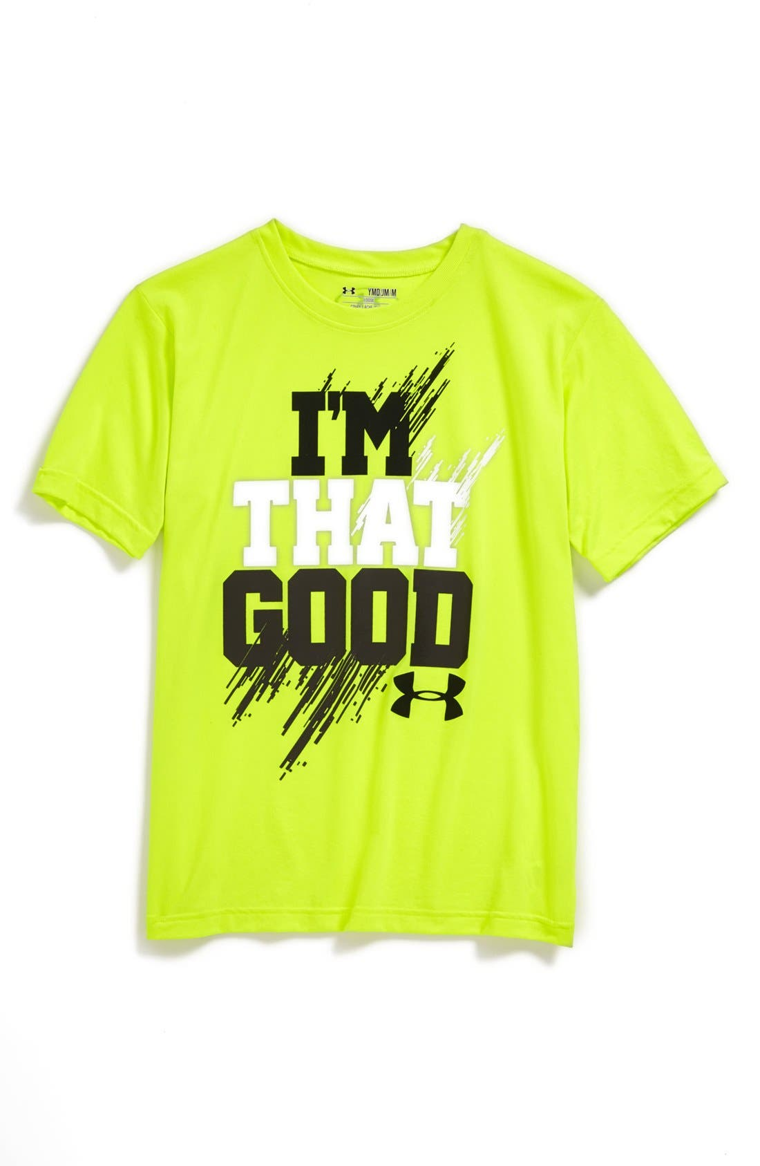 Alternate Image 1 Selected - Under Armour 'I'm That Good' HeatGear® T-Shirt (Big Boys)