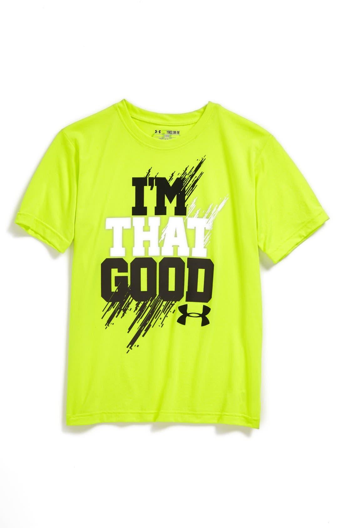 Main Image - Under Armour 'I'm That Good' HeatGear® T-Shirt (Big Boys)