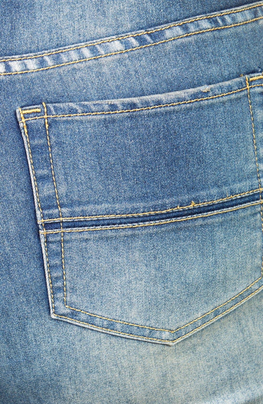 Alternate Image 3  - City Chic Soft Wash Bootcut Jeans (Mid Denim) (Plus Size)