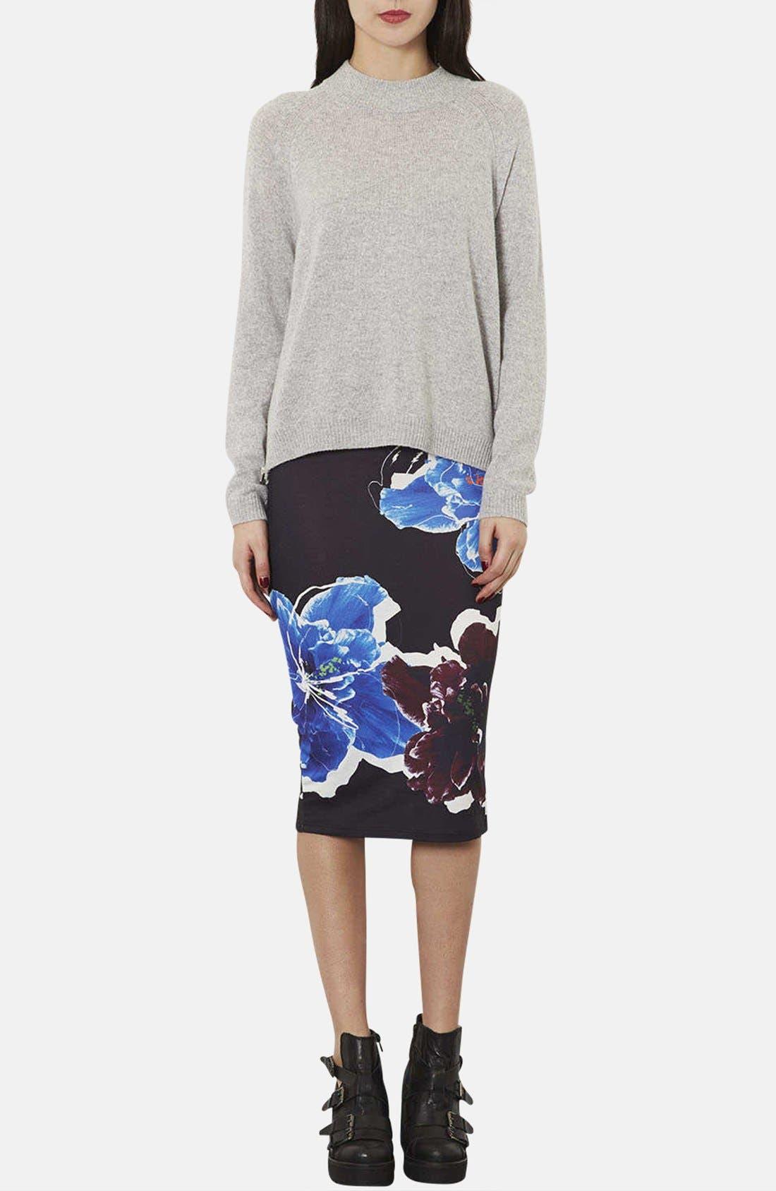 Alternate Image 4  - Topshop Floral Print Tube Skirt