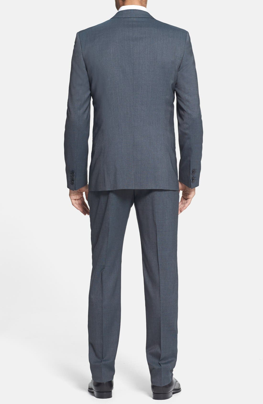 Alternate Image 2  - HUGO 'Arant/Won/Hixby' Extra Trim Fit Three-Piece Suit