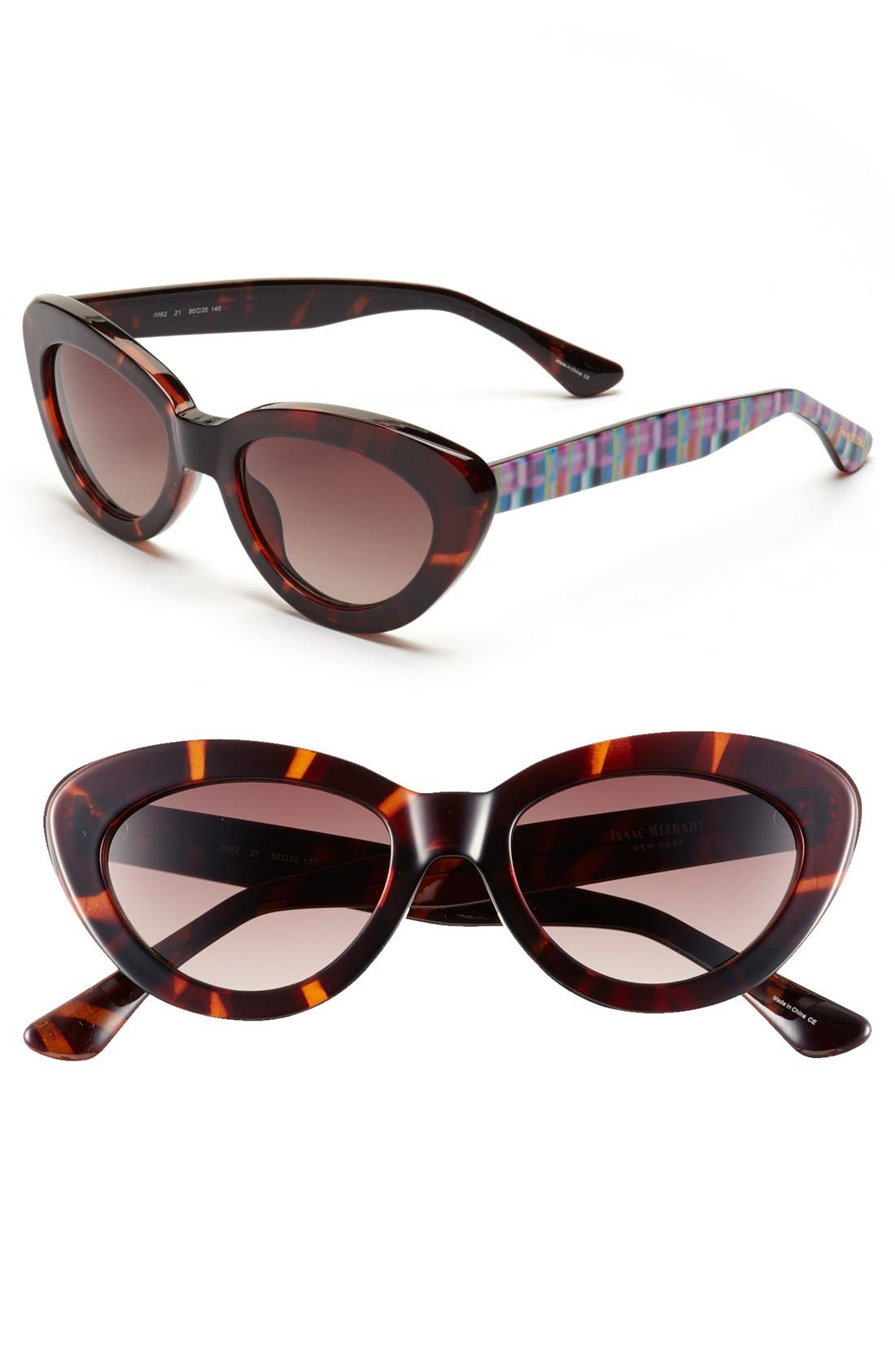 Alternate Image 1 Selected - Isaac Mizrahi New York 50mm Cat Eye Sunglasses