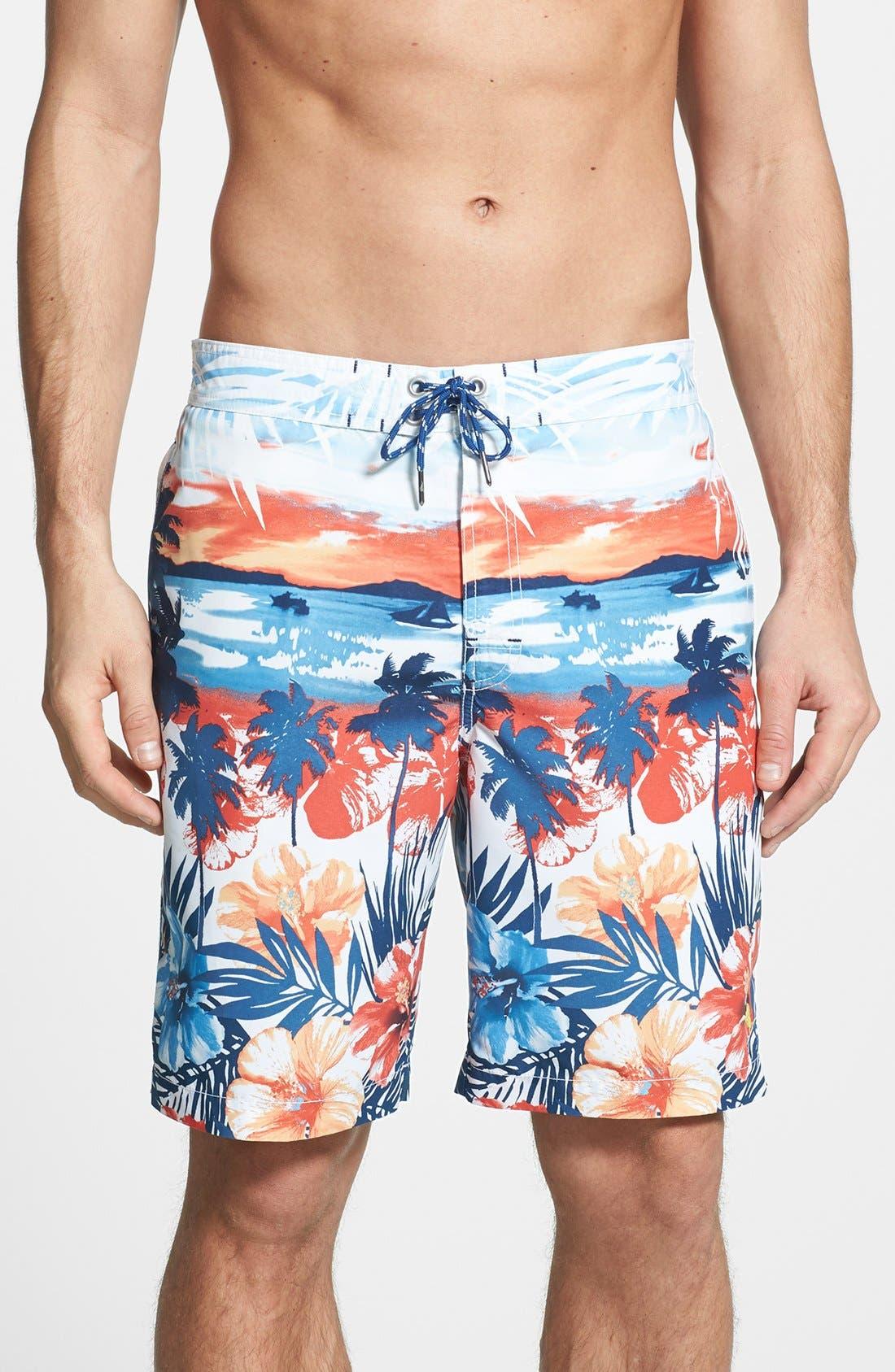 Main Image - Tommy Bahama 'The Baja Sunrise' Swim Trunks