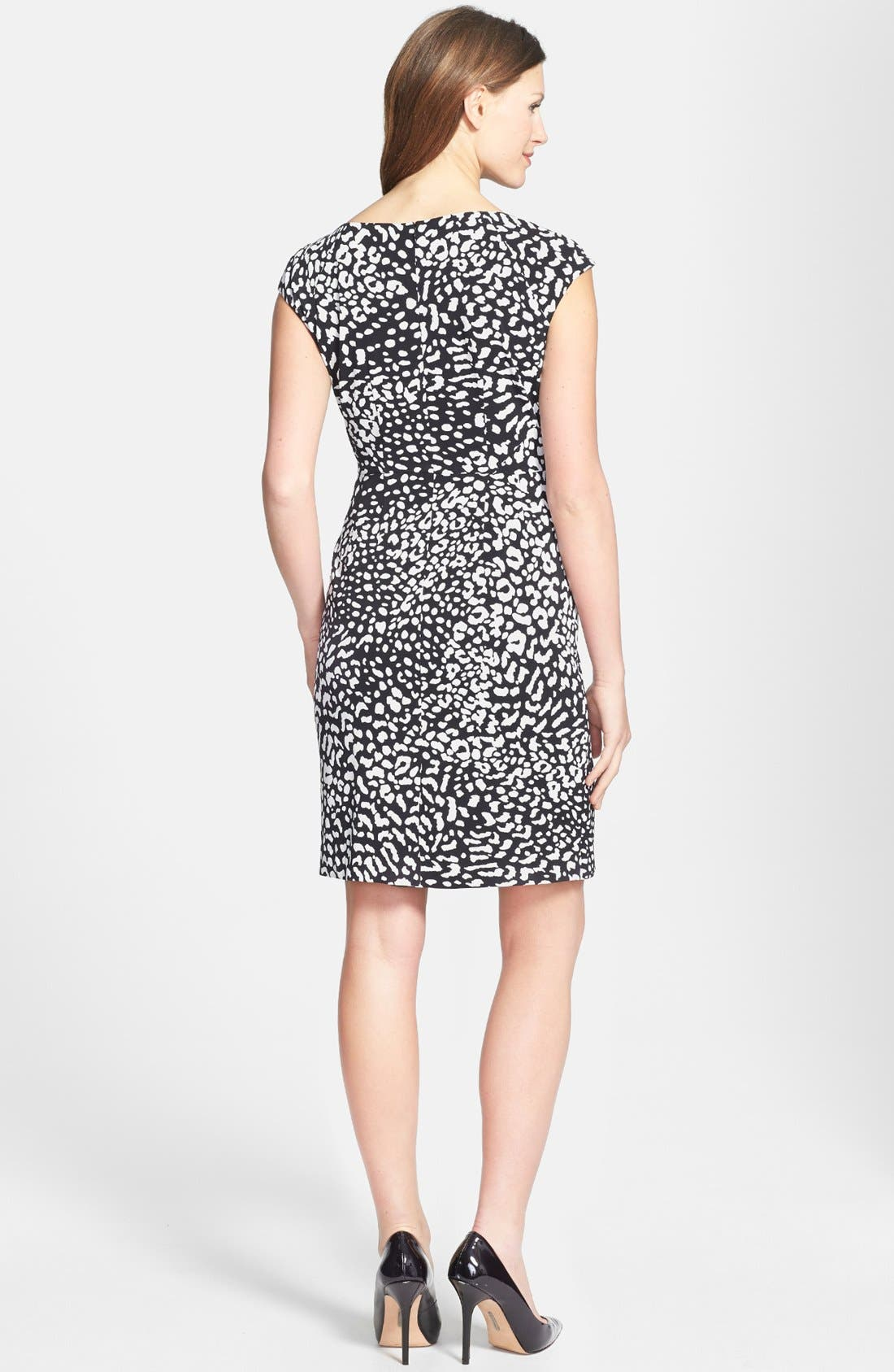 Alternate Image 3  - Adrianna Papell Side Ruched Jersey Dress