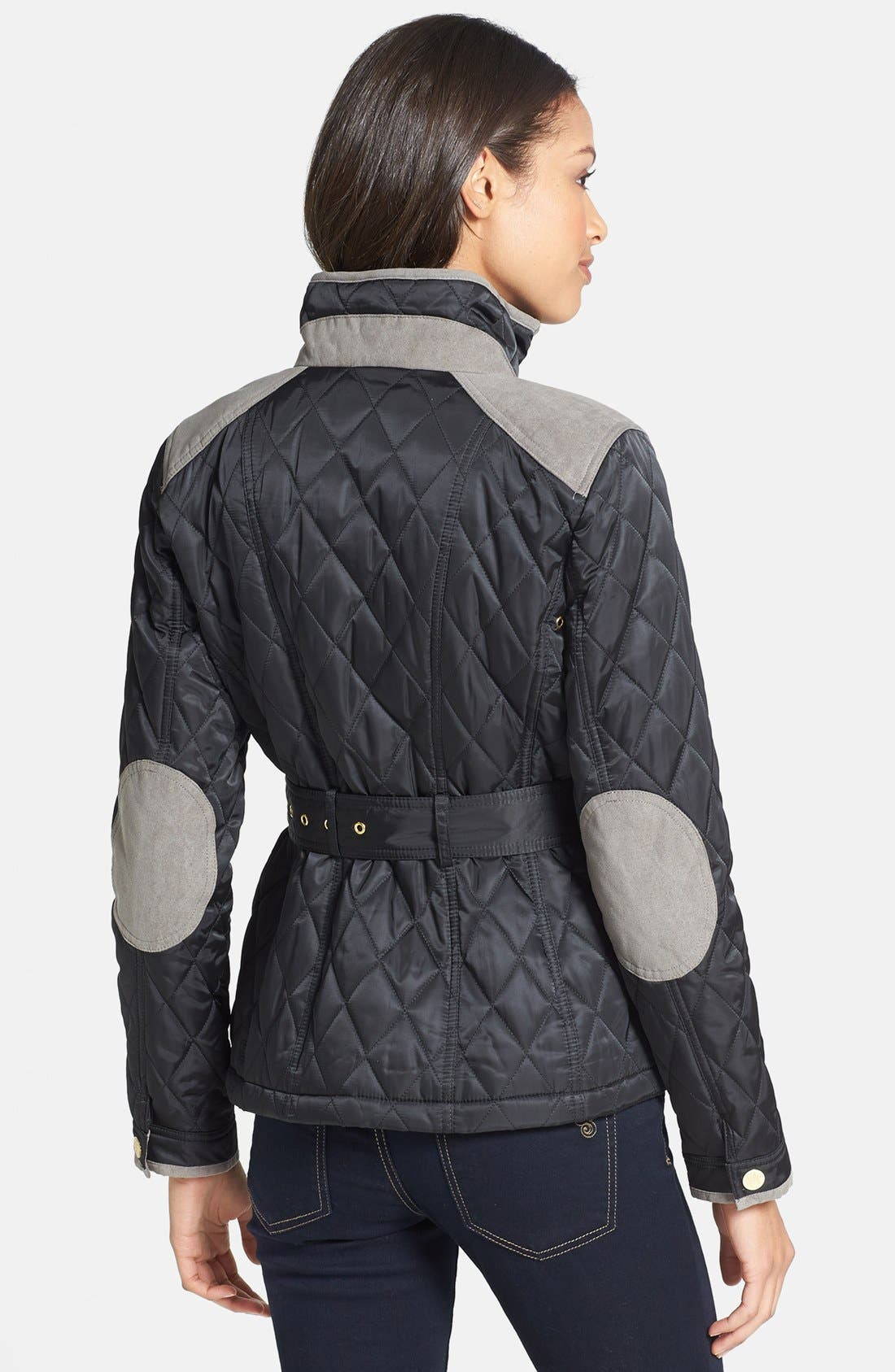 Alternate Image 2  - Vince Camuto Belted Quilted Jacket