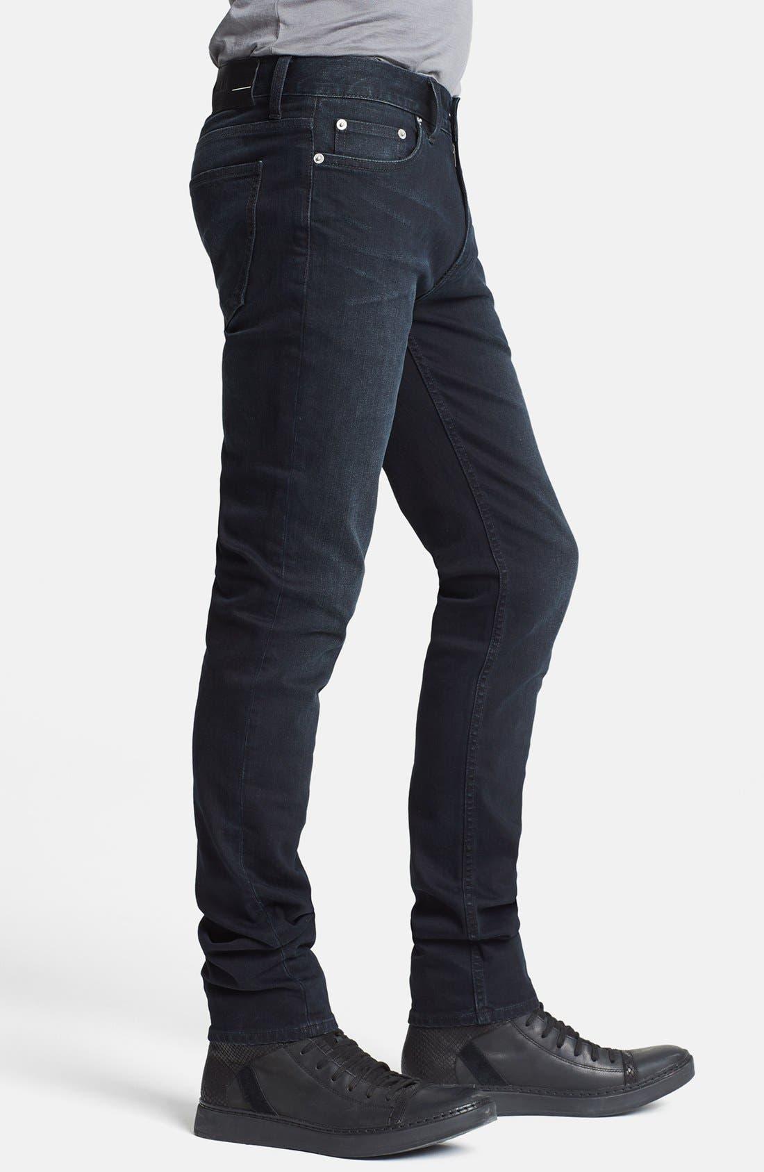 Alternate Image 3  - BLK DNM 'Jeans 5' Slim Straight Leg Jeans (Beekman Black)