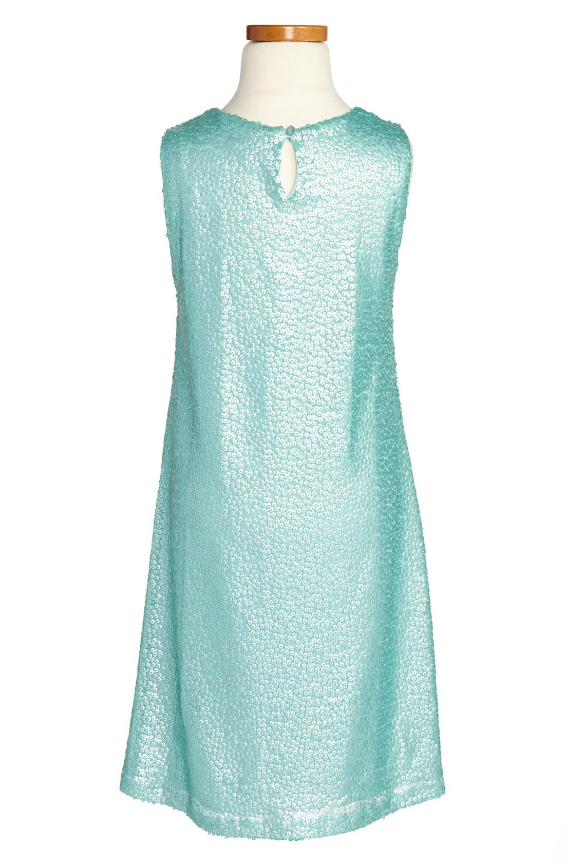 Alternate Image 2  - Zunie Sequin Tank Dress (Big Girls)