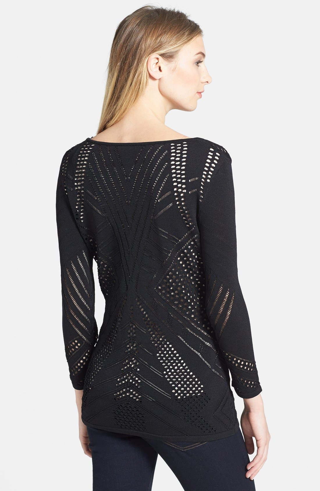 Alternate Image 2  - Calvin Klein Crochet Sweater