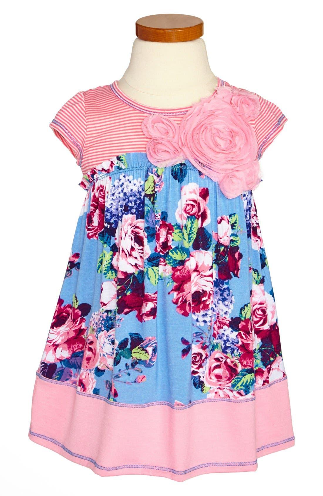 Main Image - Pink Vanilla Floral Dress (Toddler Girls)