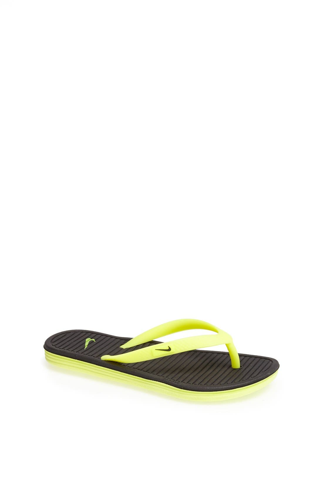Alternate Image 1 Selected - Nike Solarsoft Thong Sandal (Toddler, Little Kid & Big Kid)