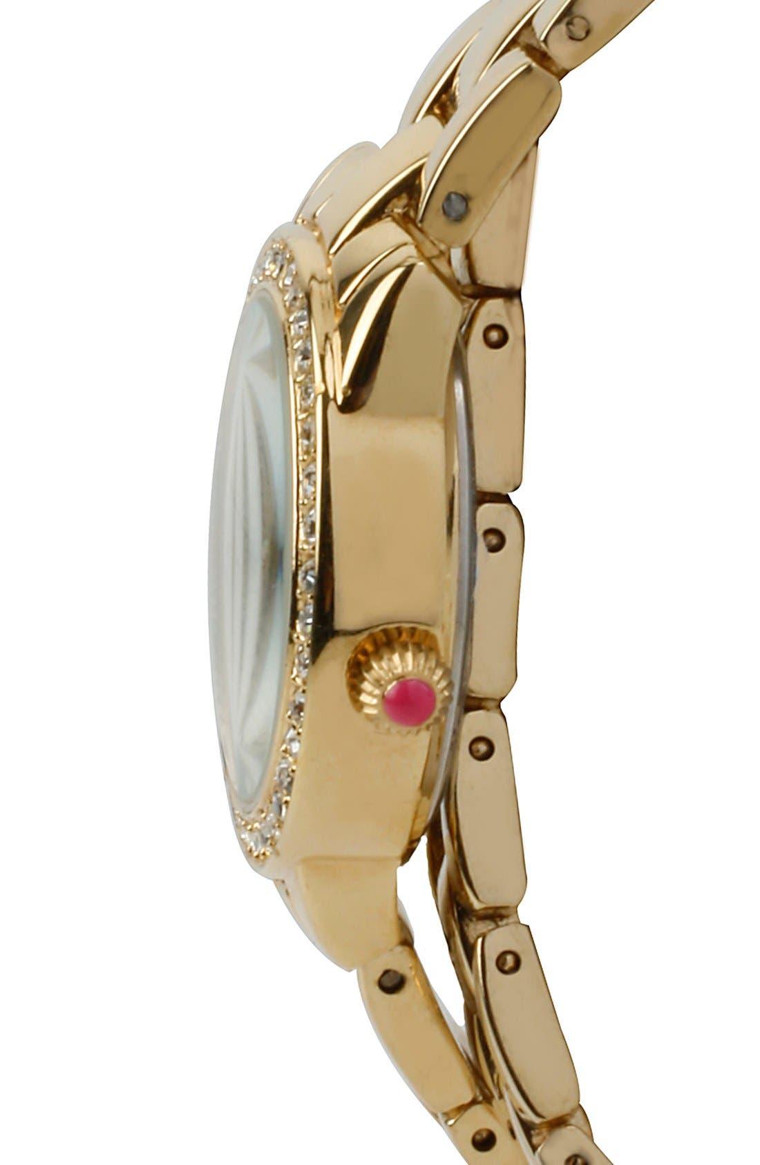 Alternate Image 3  - Betsey Johnson Crystal Bezel Wrap Bracelet Watch, 28mm