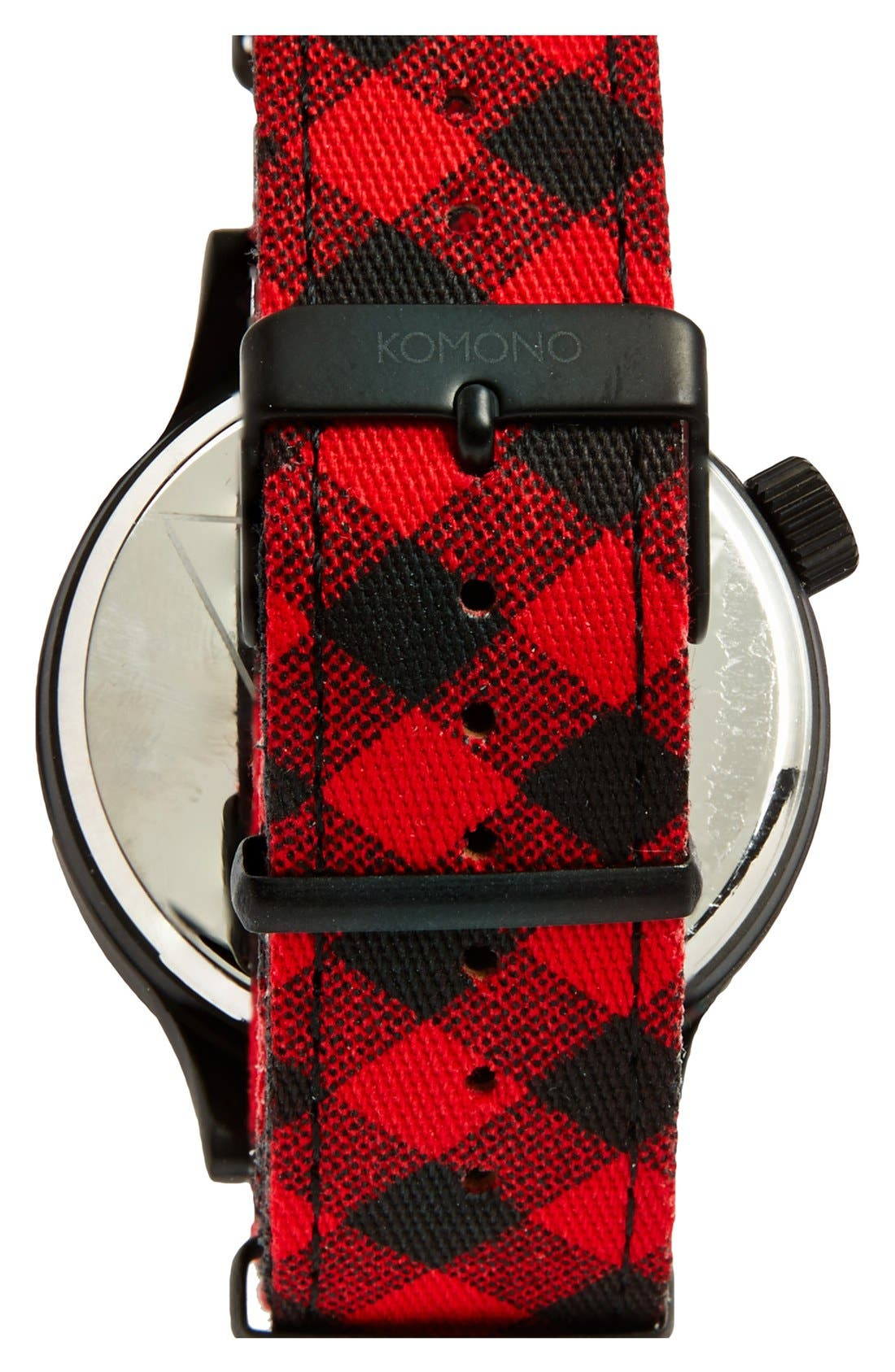 Alternate Image 2  - Komono 'Magnus - Woodsman' Round Dial Strap Watch, 46mm