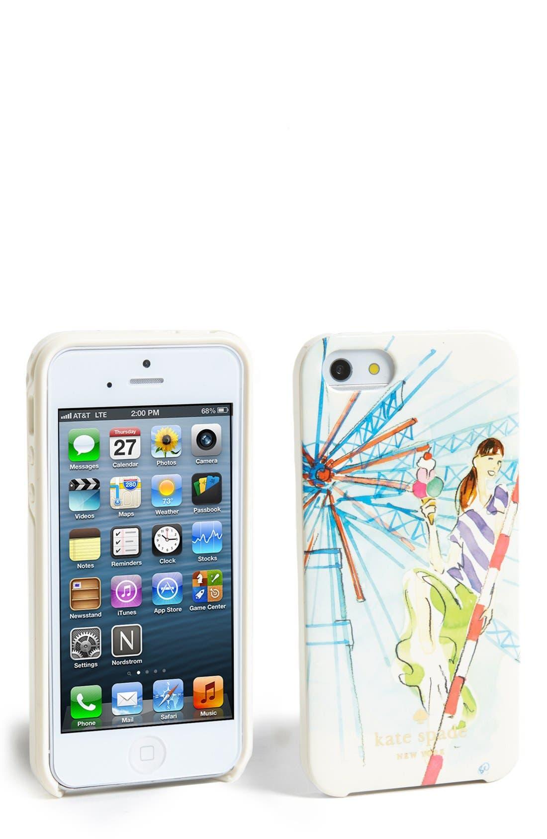 Alternate Image 1 Selected - kate spade new york 'brighton girl' iPhone 5 & 5s case