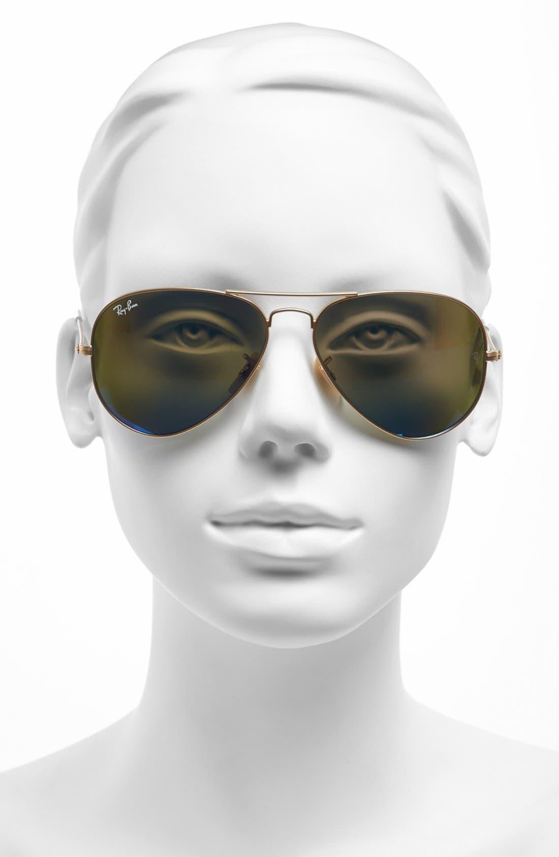 Alternate Image 2  - Ray-Ban Standard Original 58mm Aviator Sunglasses