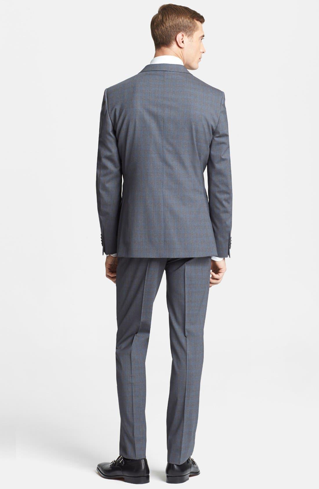 Alternate Image 2  - Z Zegna Trim Fit Grey Wool Suit