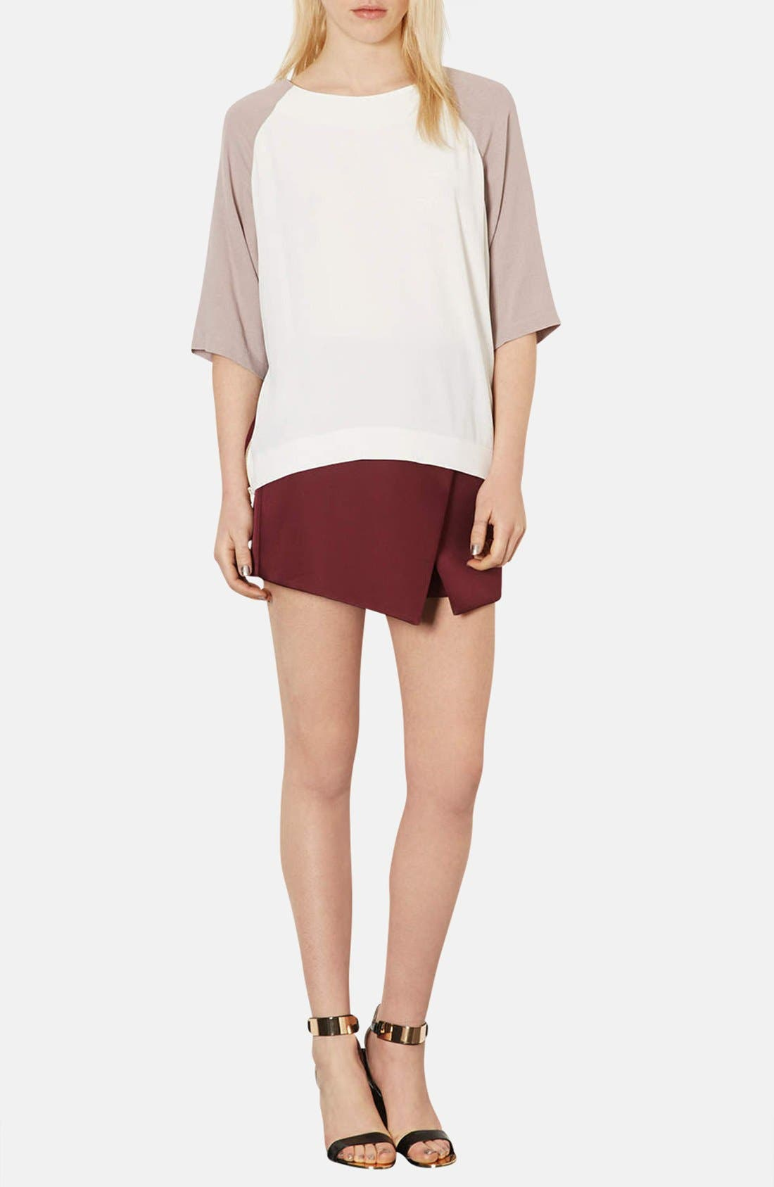 Alternate Image 3  - Topshop Colorblock Crepe Tunic