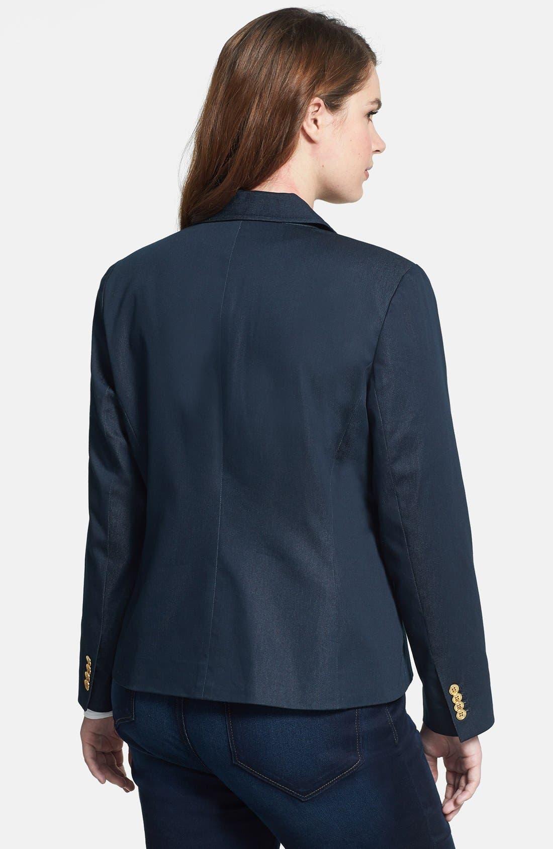 Alternate Image 2  - Vince Camuto Single Button Blazer (Plus Size)